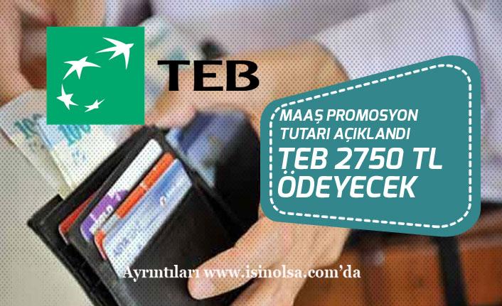 TEB'in Emekliye Maaş Promosyonu Açıklandı! 2750 TL Ödeme!