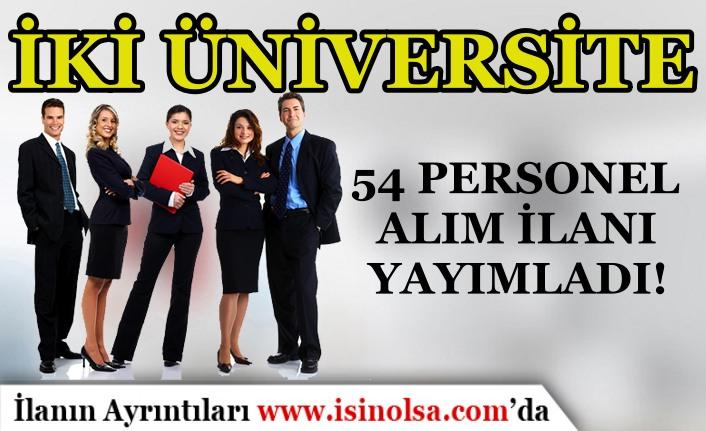 Trabzon ve Sinop Üniversitesi 43 İşçi Personel Alım İlanı Yayımladı!