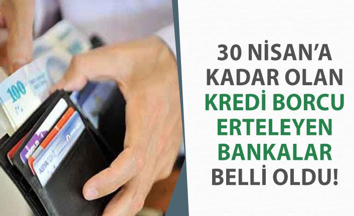 3 Ay Kredi Borcu Erteleme Yapan Kamu, Özel Bankalar! Başvuru Detayı!
