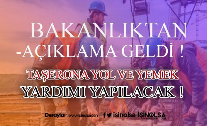 """Çalışma Bakanlığından Taşerona """"Ödeme Yapılmalı"""" Yazısı"""
