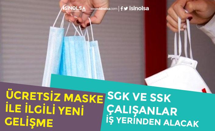 Eczaneden Ücretsiz Maske Dağıtımı Açıklaması! SGK'lı Çalışana İşyerinden Verilecek!