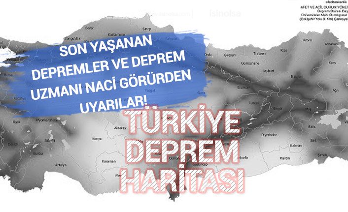 15 Haziran Yeni Depremler! Türkiye Deprem Haritası Fay Hatları!