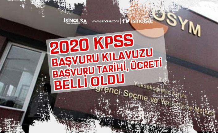 2020 KPSS Lisans Başvuru Kılavuzu, Başvuru Ücreti, Son Tarihi! Alan Bilgisi, ÖABT!