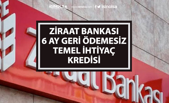 6 Ay Geri Ödemesiz Ziraat Bankası Bireysel Temel İhtiyaç Kredisi Başvuru Nasıl Yapılacak?