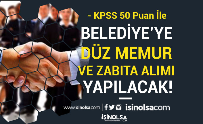 Akıncılar Belediyesi 50 KPSS İle Zabıta ve Düz Memur Alımı Yapacak