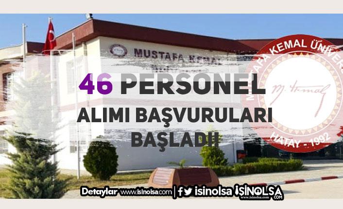 Hatay Mustafa Kemal Üniversitesi 46 Sözleşmeli Sağlık Personeli Alım İlanı