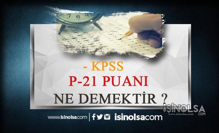 KPSS P120 Nedir? Ne İçin İşaretlenir?
