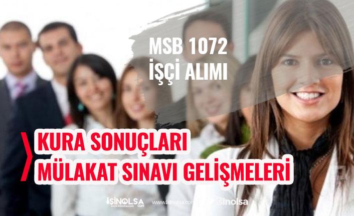Milli Savunma Bakanlığı MSB 1072 İşçi Alımı Kura Sonucu, Sorgulama Ekranı, Çekiliş Sonuçları Tam Liste!