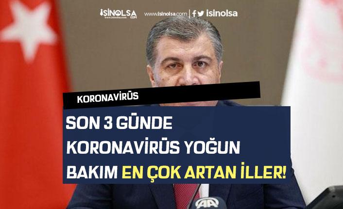 Son 3 Günde Koronavirüs Yoğun Bakım Artan iller! 27 Temmuz Vaka Tablosu!