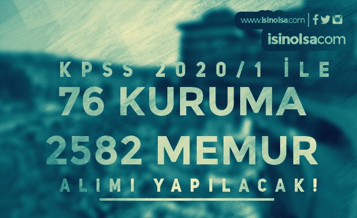 KPSS 2020/1 İle 76 Kamu Kurumu 2582 Memur Alımı Yapacak!