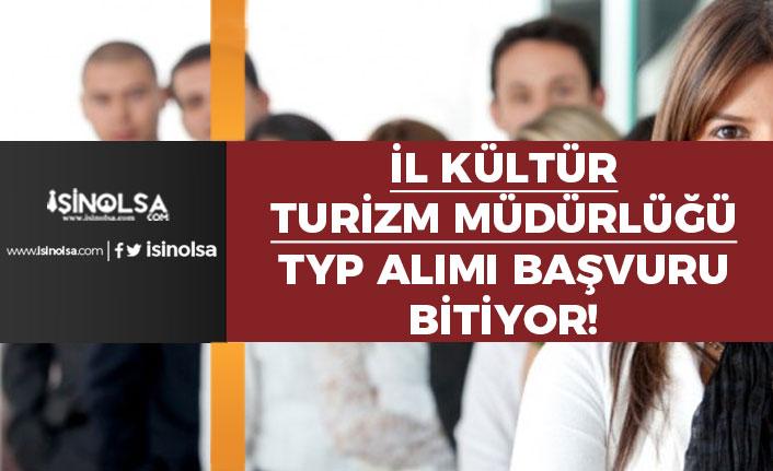 Kültür ve Turizm Müdürlüğüne Toplum Yararına Programı Başvuruda Son Gün!