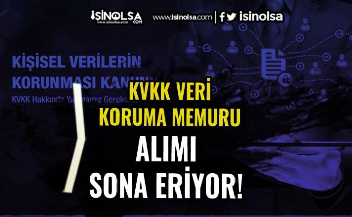 KVKK Veri Koruma Memuru Alımı Başvuruları Bitiyor! Sınav Ücretine Dikkat!