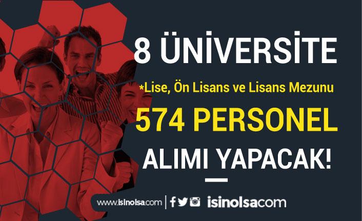Lise, Ön Lisans ve Lisans Mezunu 574 Üniversite Kamu Personeli Alınıyor