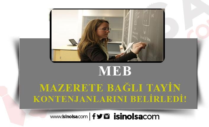 MEB, Mazeret Tayini İçin Kontenjanları Açıkladı!
