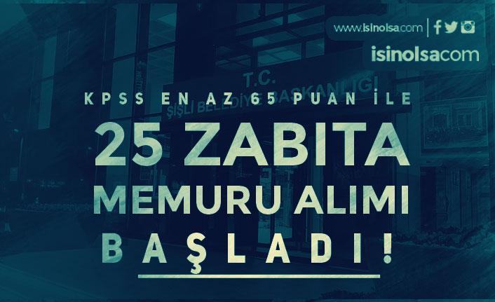 Şişli Belediyesi 65 KPSS Puanı İle 25 Memur Alımı Başvuruları Başladı! 4000 TL Maaş