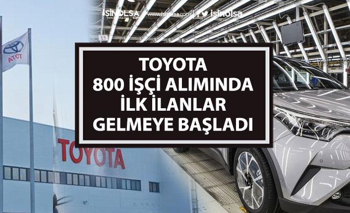 Toyota 800 Personel Alımı Yapacak! İki Kadrodaki İlanlar Açıklandı! Başvuru Şartları!