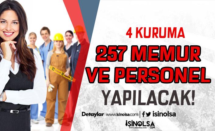 Üniversite, Belediye ve Kamu Kurumuna 257 Personel ve Memur Alımı