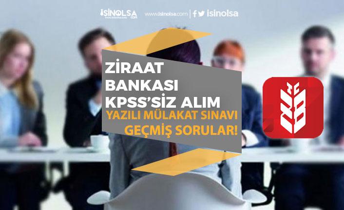 Ziraat Bankası KPSS'siz Bankacı Alımı Yapıyor! Sınav Tarihi Geçmiş Yıl Sınav Soruları!