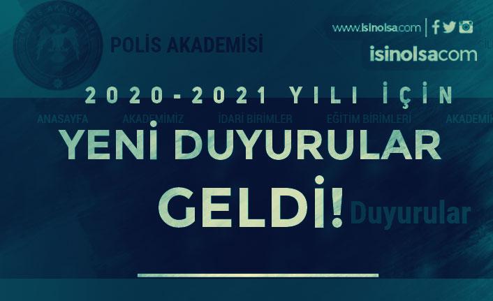 Polis Akademisinden 2020/2021 Yılı Güz Dönemi Mülakat Tarihleri Duyurusu