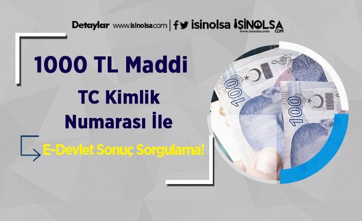 1000 TL Maddi TC Kimlik Numarası İle E-Devlet Sonuç Sorgulama!