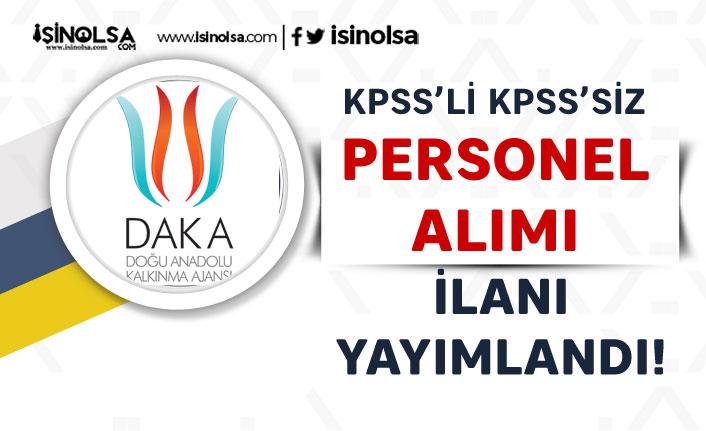 Doğu Anadolu Kalkınma Ajansı DAKA KPSS'li KPSS Siz 3 Memur Alımı İlanı