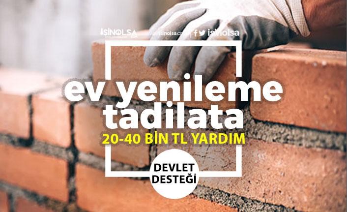 Ev Yapımı ve Onarımı Devlet Desteği! 20-40 Bin Tl Karşılıksız Yardım!
