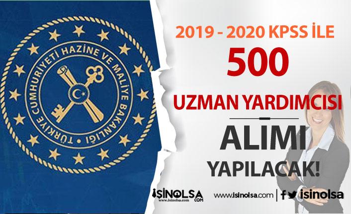 Maliye Bakanlığı Merkez Teşkilatına 500 Uzman Yardımcısı Alacak