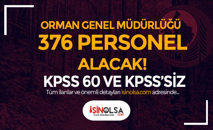 OGM KPSS 60 Puan ile ve KPSS Siz 376 Personel Alımı Yapacak