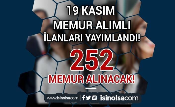 19 Kasım 2020 Memur Alımı İlanları: 2 Büyükşehir Belediyesi 252 Memur Alacak!