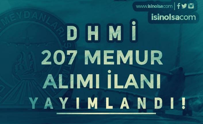 DHMİ Lisans Mezunu KPSS Puanı İle 207 Memur Alımı İlanı Yayımlandı!
