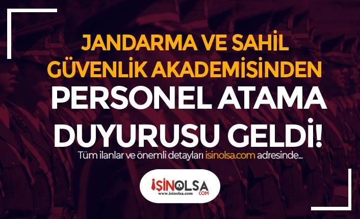 Jandarma ( JSGA ) Personel Atama Duyurusu Yayımladı