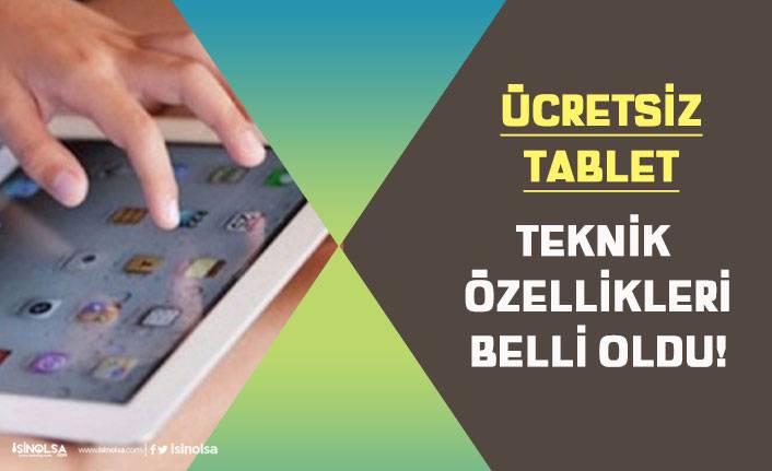 MEB Öğrencilere Dağıtılacak Ücretsiz Tabletin Teknik Özellikleri Belli Oldu!