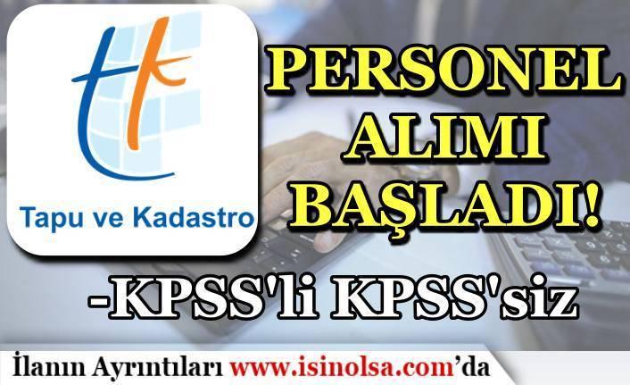 Tapu ve Kadastro 15 Bilişim Personeli Alımı Başvuruları Başladı!