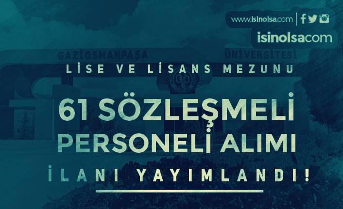 Tokat Gaziosmanpaşa Üniversitesi 61 Hemşire ve Sağlık Personeli Alacak!