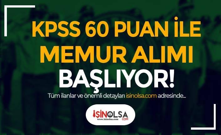 Belediye KPSS 60 Puan İle Zabıta Memuru Alımı Başvuruları Başlıyor!