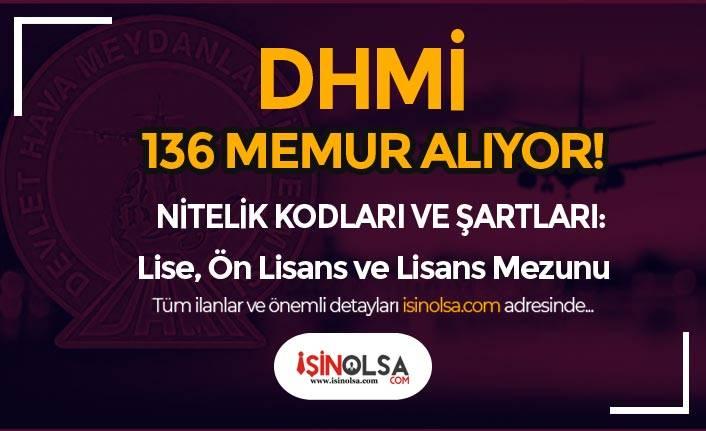 DHMİ Lise, Ön Lisans ve Lisans Mezunu 136 Memur Personel Alıyor