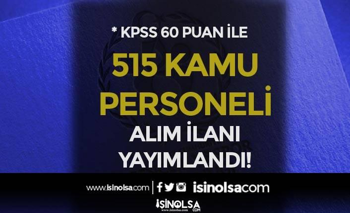 GSB KPSS En Az 60 Puan İle 515 Kamu Personeli Alımı İlanı 2021