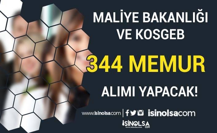 Maliye Bakanlığı ve KOSGEB 344 Memur Alımı Yapacak!