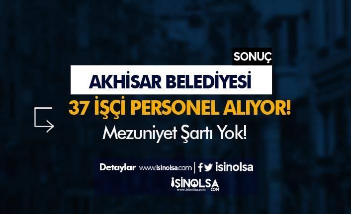 Manisa Akhisar Belediyesi 37 İşçi Personel Alımı Yapıyor!