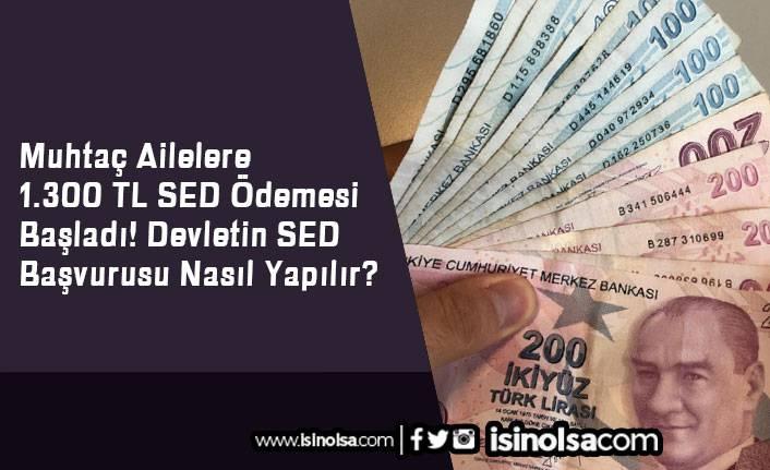 Muhtaç Ailelere 1.300 TL SED Ödemesi Başladı! Devletin SED Başvurusu Nasıl Yapılır?