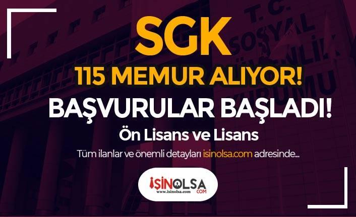 Sosyal Güvenlik Kurumu ( SGK ) 115 Memur Alımı Yapıyor!
