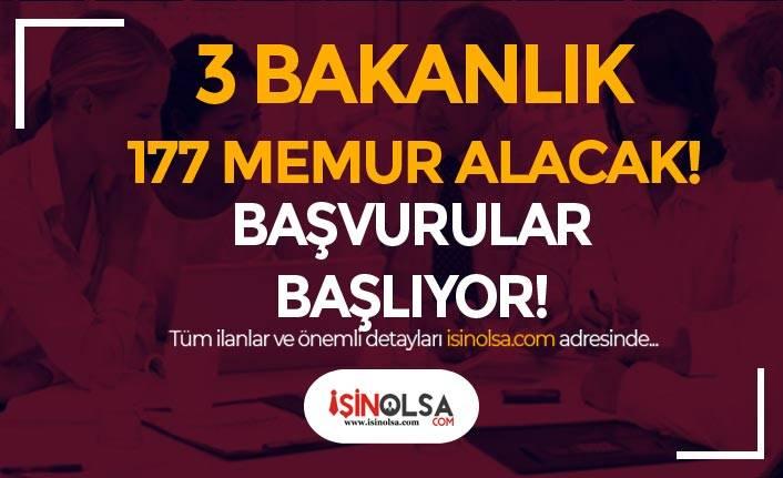 Tarım, Gençlik ve İçişleri Bakanlığı En Az Lise 177 Memur Alımı Başlıyor!