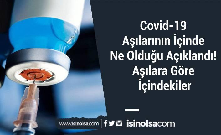Covid-19 Aşılarının İçinde Ne Olduğu Açıklandı! Aşılara Göre İçindekiler