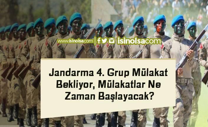 Jandarma 4. Grup Mülakat Bekliyor, Mülakatlar Ne Zaman Başlayacak?