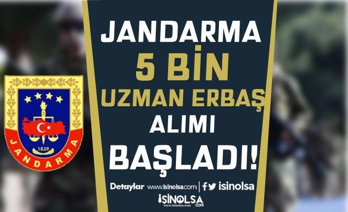 Jandarma KPSS'li KPSS'siz 5 Bin Uzman Erbaş Alımı Başvuru Ekranı Açıldı!