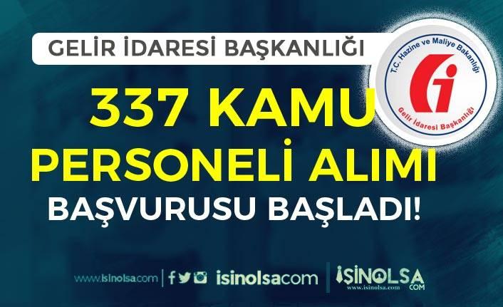 Gelir İdaresi Başkanlığı ( GİB ) 337 Kamu Personeli Alımı Başladı! ( Güvenlik Görevlisi )