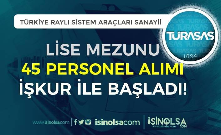 İŞKUR Aracılığı İle TÜRASAŞ Lise Mezunu 45 Personel Alımı Başladı!