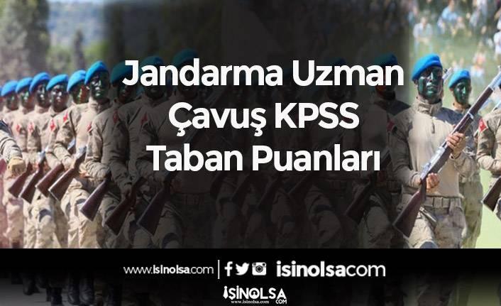 Jandarma Uzman Çavuş KPSS Taban Puanları (Mezuniyetlere Göre)