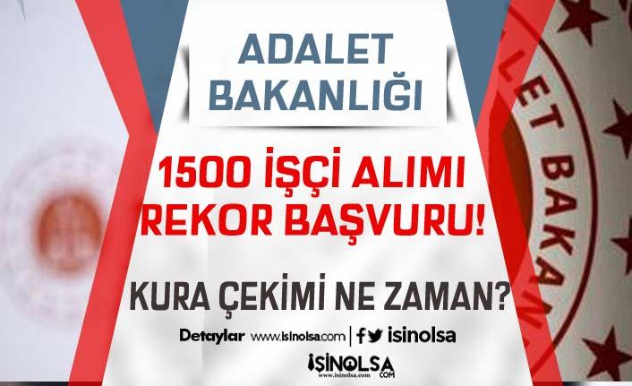 Adalet Bakanlığı 1500 İşçi Alımında Rekor Başvuru! Kura Çekimi Ne Zaman?
