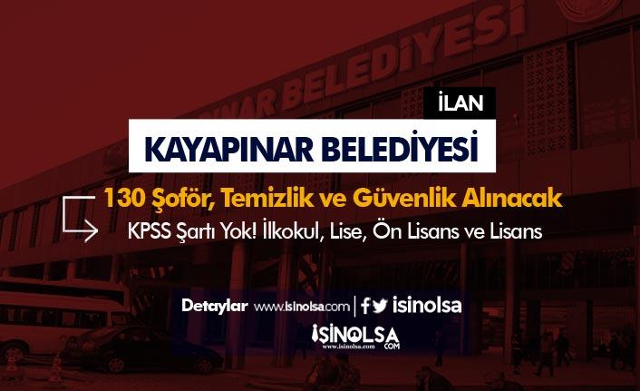 Diyarbakır Kayapınar Belediyesi 130 Şoför, Güvenlik ve Temizlik Personeli Alınacak!